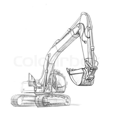 illustration   excavator  stock photo colourbox