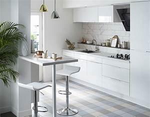 Meuble De Cuisine Blanc Laqué : element cuisine blanc cuisine contemporaine pas cher cbel cuisines ~ Teatrodelosmanantiales.com Idées de Décoration