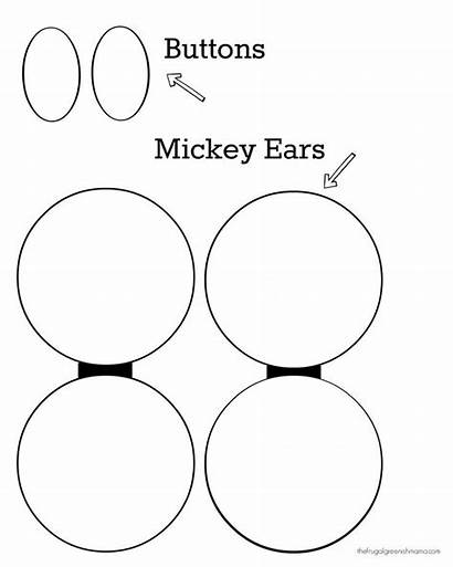 Mickey Mouse Ears Printable Template Ear Button