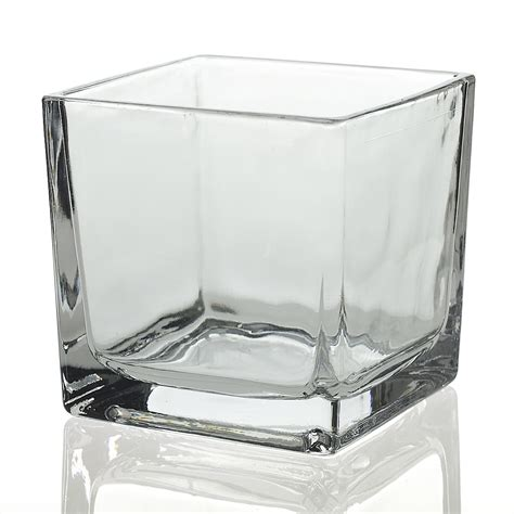 5 Inch Square Vase by Square Vase 5 Inch Vases For Centerpiece