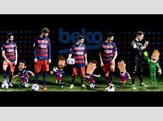 Los jugadores del Barça, estrellas de dibujos animados de Beko