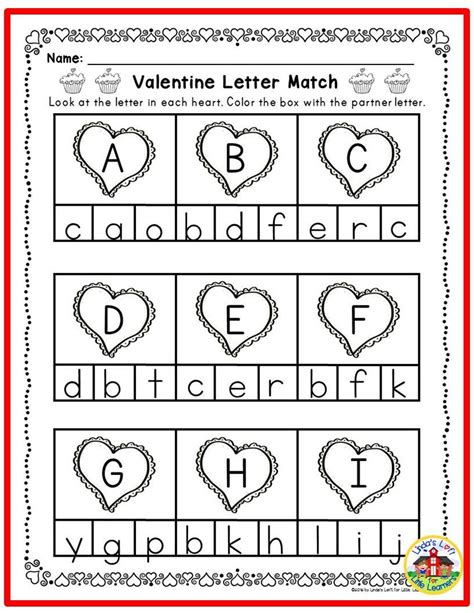 abc letter matching printables