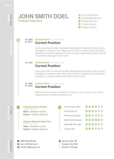 Really Free Resume Templates by 65 Best Creative Resume Templates Images On