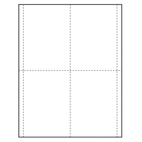 1 4 page card template 3 5 8 quot x 5 1 2 quot vertical paper name tag insert blank