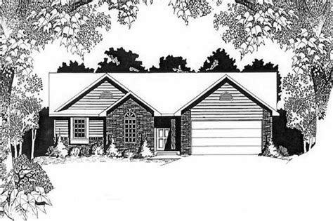 ranch home   bdrms  sq ft house plan   tpc