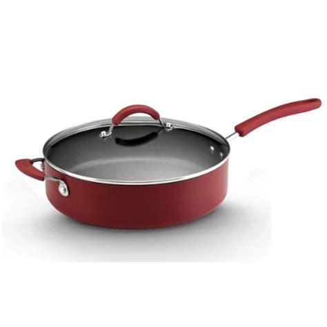 kitchenaid aluminum nonstick  piece cookware set red wwwyourcookwarehelpercom