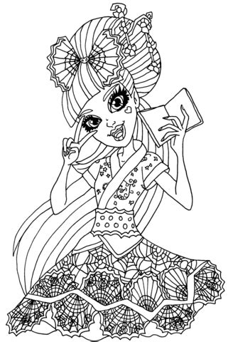 draculaura exchange student coloring page  printable coloring pages
