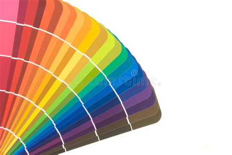 paint color cards and brush stock image image of rainbow
