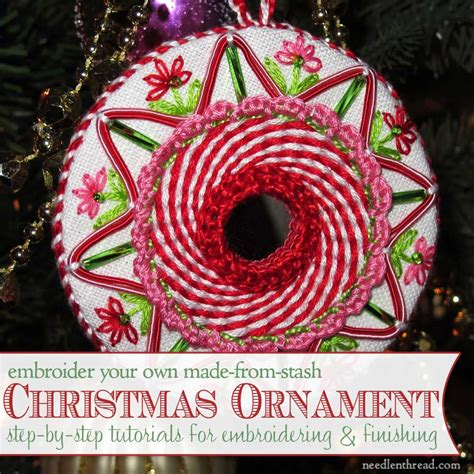 hand embroidered christmas ornaments index