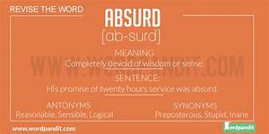 Absurd Meaning ... Absurd Meaning