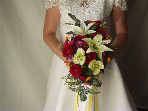 silk wedding flowers black  yellow baground
