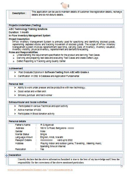 cv format  file  page  career cv format