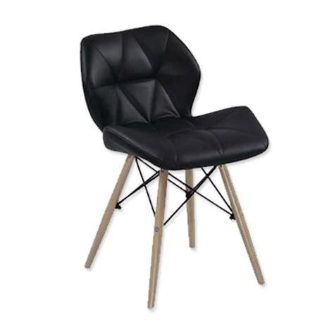 lot 4 chaises lot de 4 chaises design ophir noir achat vente chaise