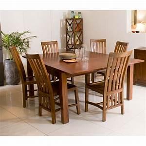 Table à Manger Carrée : table manger carr e rallonge 140 50 x 140 cm mindi meubles macabane meubles et objets de ~ Teatrodelosmanantiales.com Idées de Décoration
