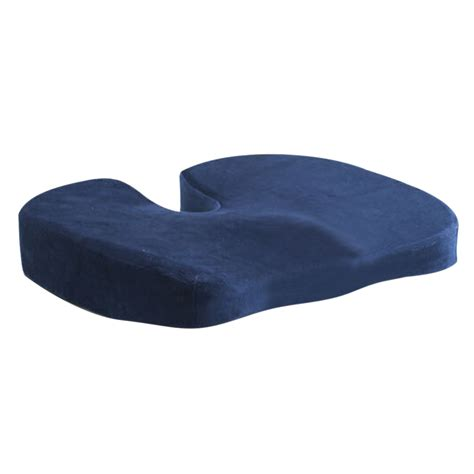 navy blue coccyx orthopedic memory foam seat cushion for chair car office home bottom seats