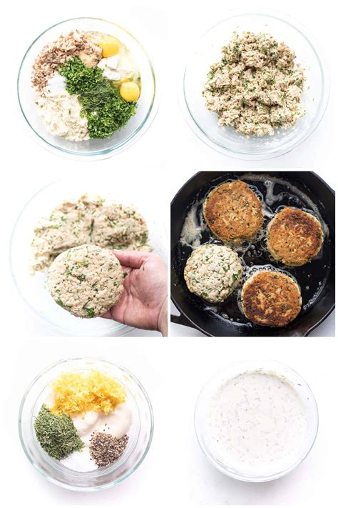 They make a pretty great appetizer too! Whole30 + Keto Salmon Cakes with Lemon Dill Aioli - Tastes Lovely