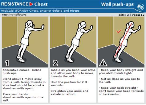 wall push ups health