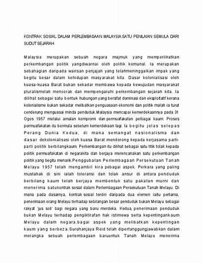 Kontrak Sosial Perlembagaan Dalam Malaysia Academia