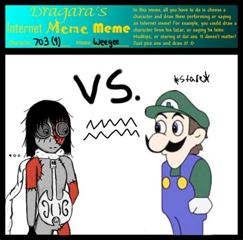 Internet Girl Meme - internet meme 703 vs weegee by cielos girl on deviantart
