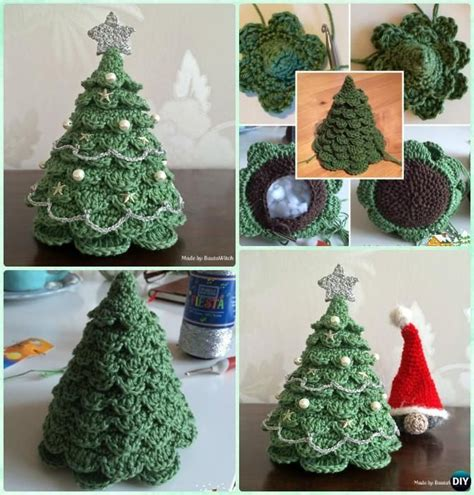 crochet christmas tree  patterns  holiday