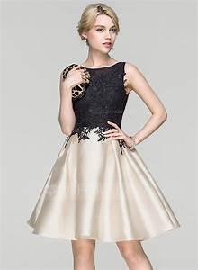 forme princesse col rond longueur genou robe de cocktail With forme de robe