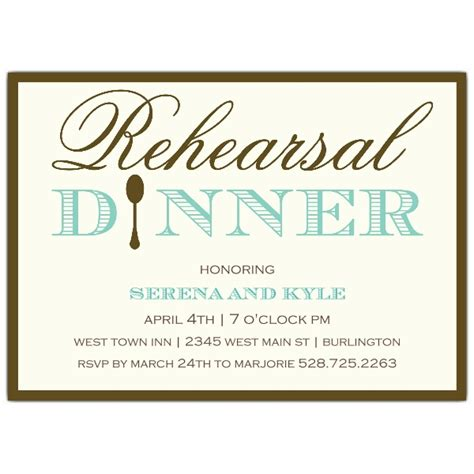 simple elegance rehearsal dinner invitations paperstyle