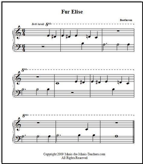 fur elise by beethoven for beginners music for music teachers com website with easy piano