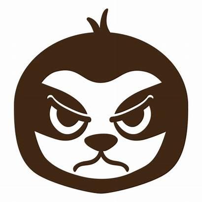 Sloth Angry Head Flat Muzzle Enojada Cabeza
