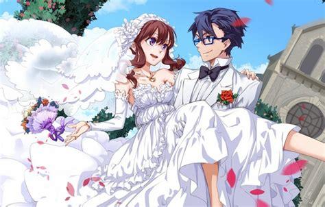 Anime Wedding Wallpaper - wallpaper flowers bouquet anime petals