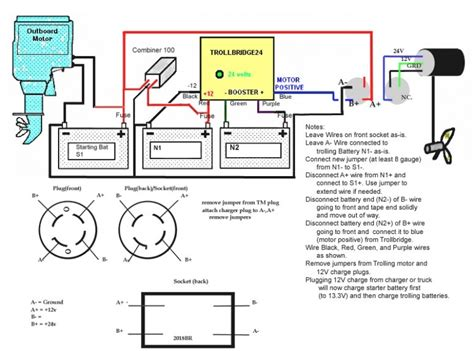12v Boat Wiring Diagram by 24 Volt Trolling Motor Wiring Diagram Fuse Box And