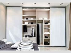 The modern wardrobe with sliding doorsboth practical and