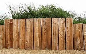 Gartengestaltung Böschung Gestalten : palisaden rundh lzer f r den garten palisaden g rten und z une ~ Markanthonyermac.com Haus und Dekorationen