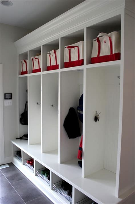 mudroom lockers traditional entry chicago  great