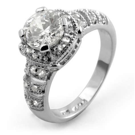unique anniversary wedding anniversary unique engagement ring sterling