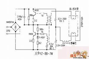 Dahua Yz-88-7w Electronic Ballast Circuit Diagram