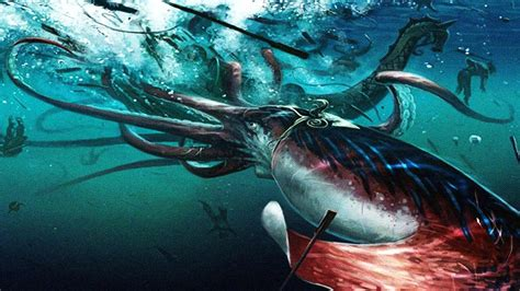 Giant Squid Attacks Fishing Boat by Giant Squid