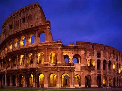 modern wonders of the world colosseum italy travel