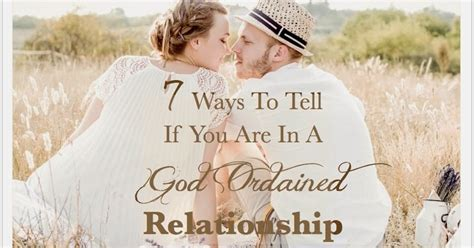 Nina Andres 7 Ways To Tell If You Are In A God Ordained
