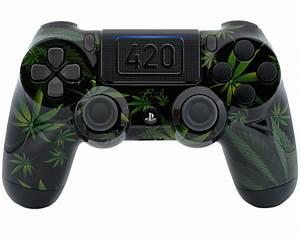 """420 BLACK"" PS4 MODDED CONTROLLER - ModdedZone"