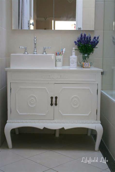 Vintage Bathroom Vanity Cabinet by Provincial Cabinet Converted To Bathroom Vanity