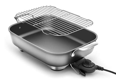 breville thermal pro nonstick electric skillet  quart cutlery