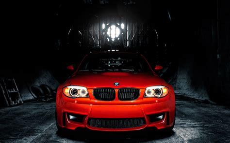 Red Vossen Bmw 3 Series Front Side View Wallpaper