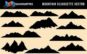 Beautiful Mountain Vector Silhouette Nature Gallery Free ...