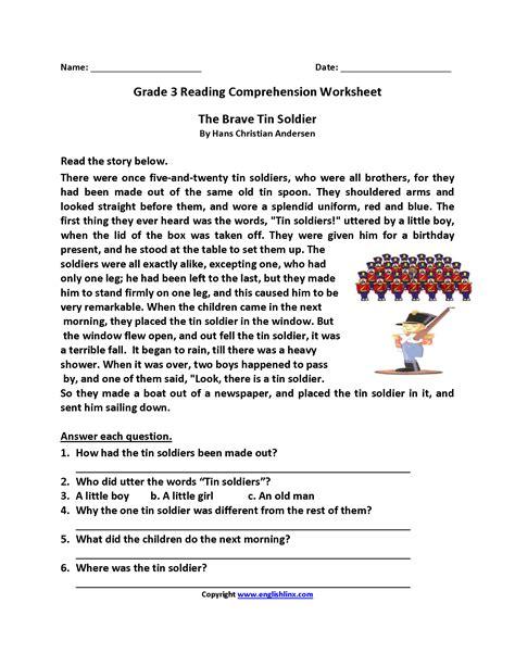 reading worksheets 3rd grade reading worksheets third grade reading worksheets