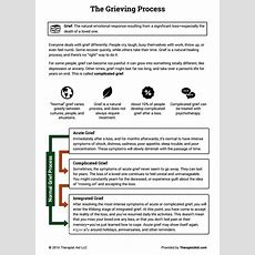 The Grieving Process (worksheet)  Therapist Aid