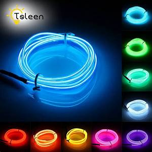 Led Stripes : tsleen 2m 3m 5m glowing neon led neon light led strip rgb waterproof led line neon cord party ~ Watch28wear.com Haus und Dekorationen