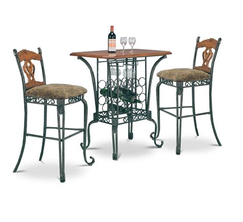 pub table with wine rack 3 bar table set with wine rack base bar table and