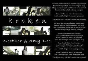 Seether Lyric Q... Broken Lyrics