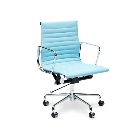 light blue desk chair light blue short back ribbed style office chair