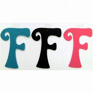 felties script letter with adhesive f pink black blue set With pink adhesive letters